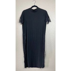 ASOS Black Midi T-Shirt Dress Sz 4